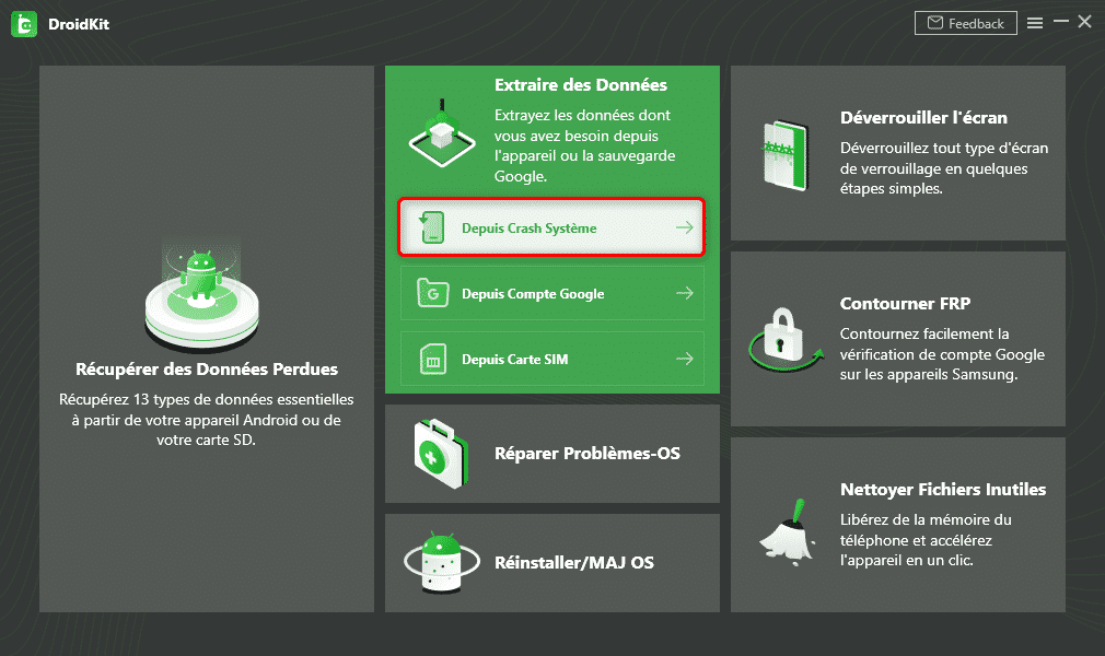 DroidKit : Extraire les données
