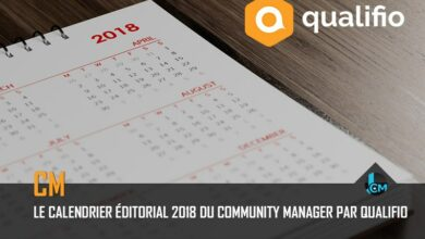 Calendier editorial 2018 par Qualifio Journal du community manager