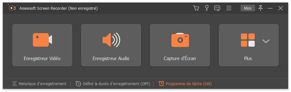 Lancer Aiseesoft Screen Recorder sur votre ordinateur