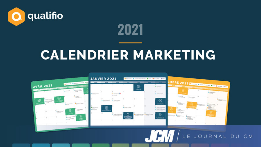 Le calendrier marketing Qualifio 2021