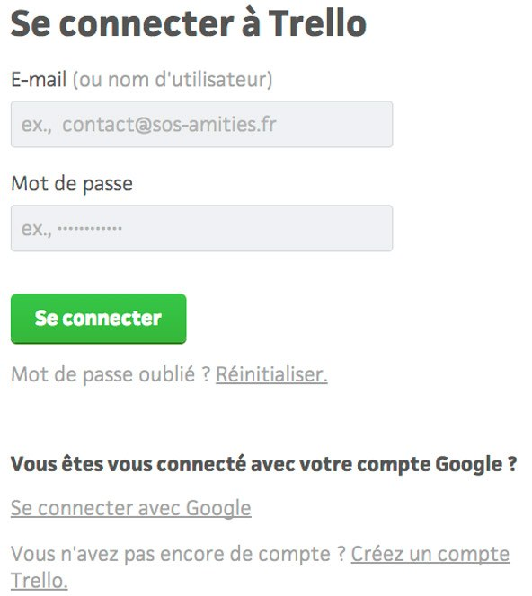 Se connecter à Trello