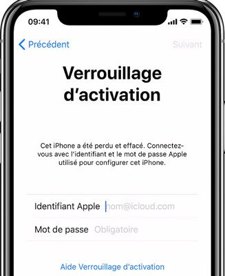 Désactiver le blocage de l'iPhone